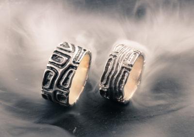 Partner/ Eheringe. Silber