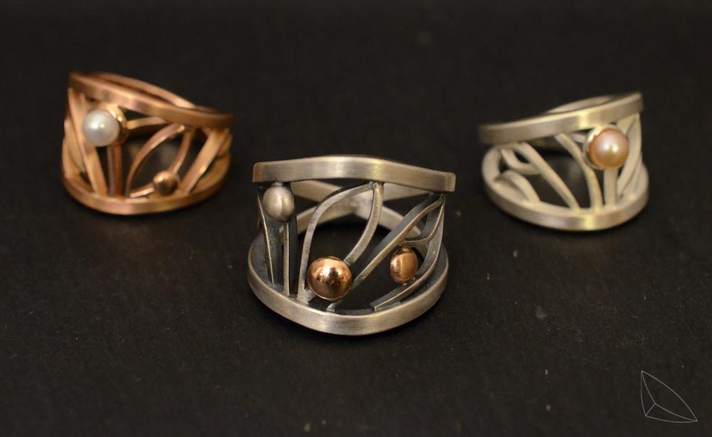 Filigranring / Silber / Rotgold / 450 Fr.