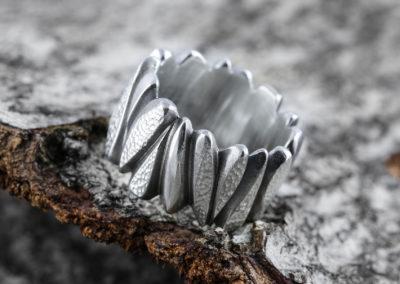 Formring Silber geschwärzt
